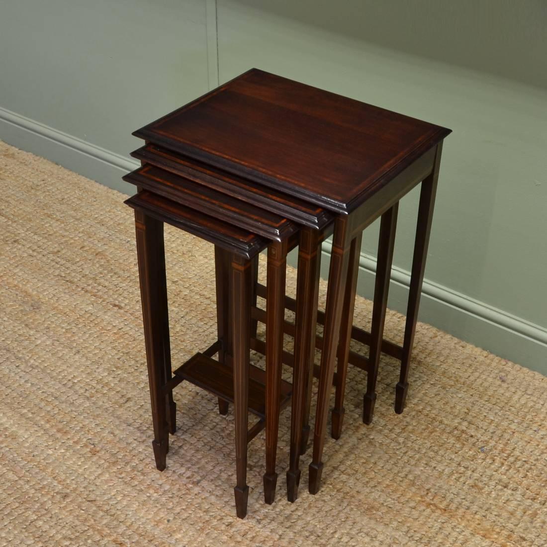 An Edwardian Mahogany Quartetto of Antique Tables.