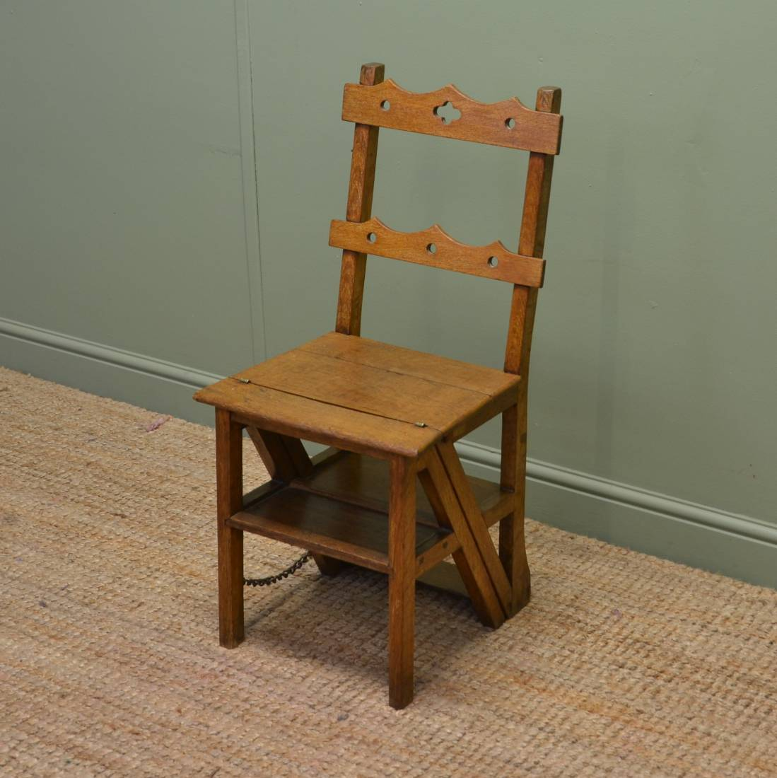 Victorian country Metamorphic Library Steps Chair