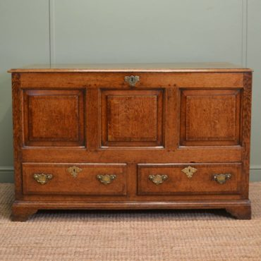 Stunning Georgian Warm Oak Antique Mule Chest