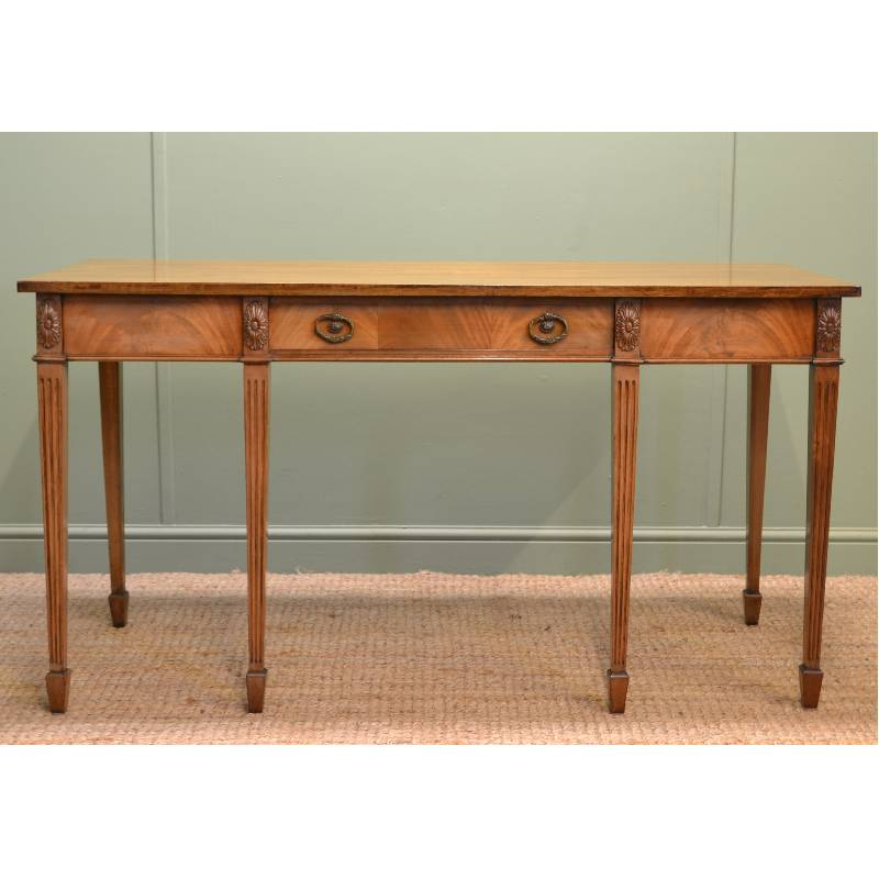Stupendous Edwardian Mellow Mahogany Antique Console Table Antiques World Andrewgaddart Wooden Chair Designs For Living Room Andrewgaddartcom
