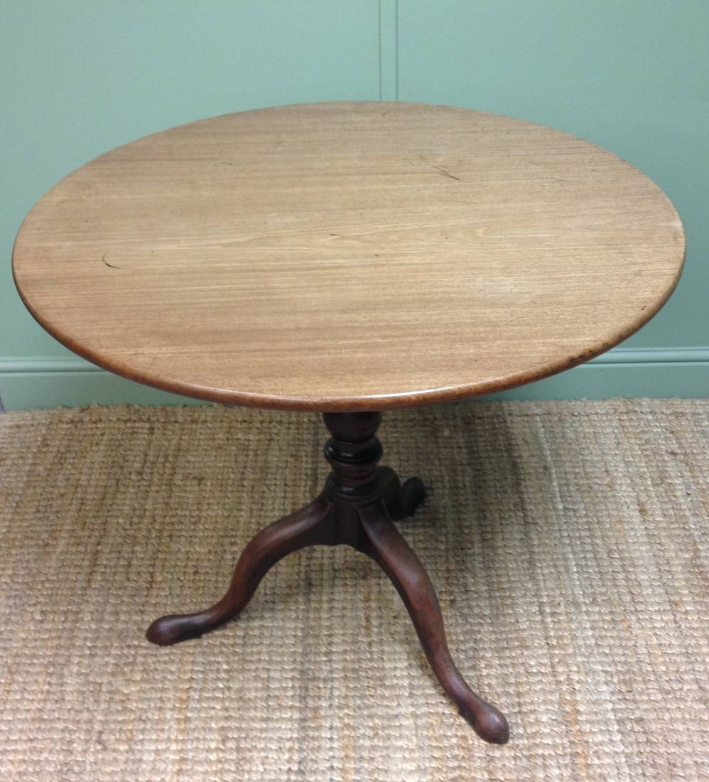 French polish a mahogany Georgian Tripod Table
