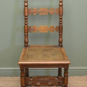 Rare Set Of Twelve Classic Fruitwood Antique Farmhouse Chairs