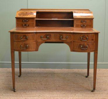 Superb Quality Edwardian Antique Mahogany Carlton House Desk.