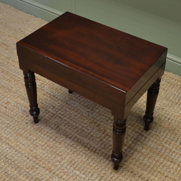 Unusual Victorian Mahogany Antique Small Coffee Table