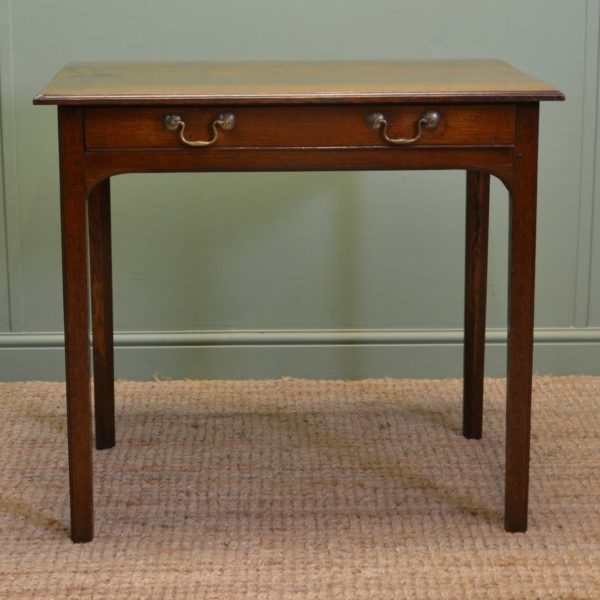 Beautiful Georgian Country Oak Antique Side Table