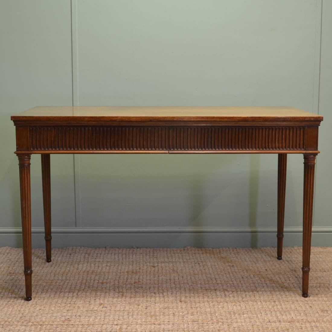 Unusual Howard And Sons Antique Mahogany Edwardian Console / Side Table