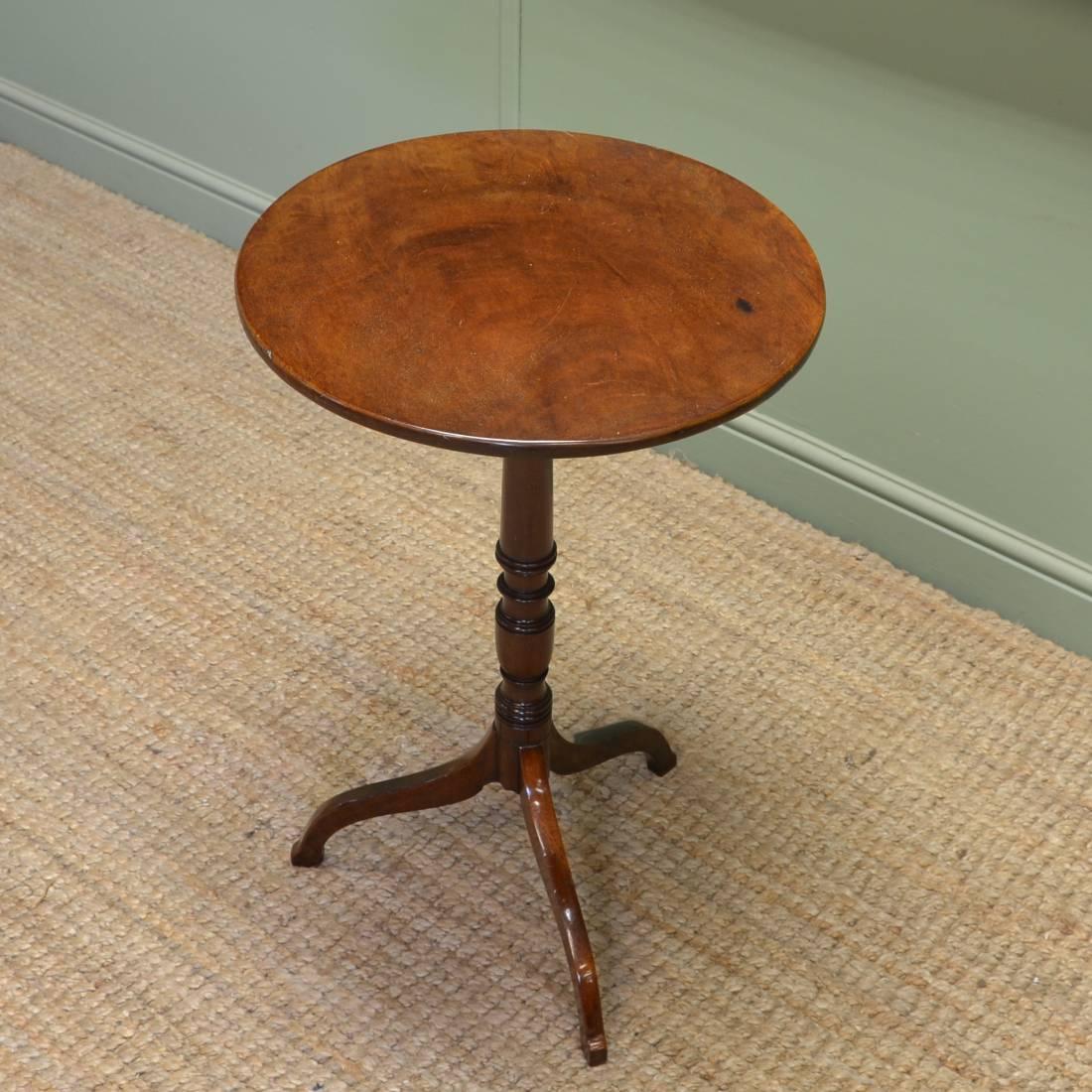 Regency Circular Mahogany Antique Lamp Table