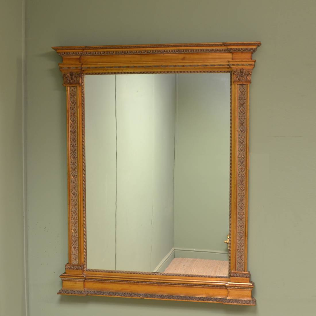 Gilt edwardian overmantle decorative mirror antiques world for Overmantle mirror