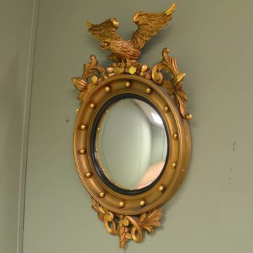 Spectacular Eagle Convex Gilt Mirror
