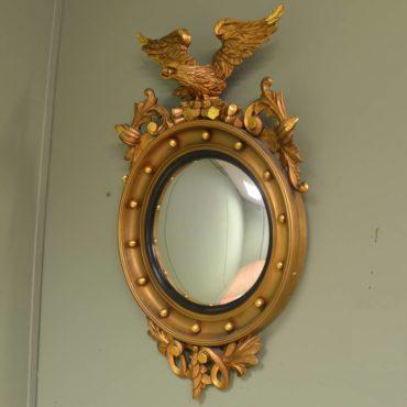 Spectacular Eagle Convex Gilt Mirror