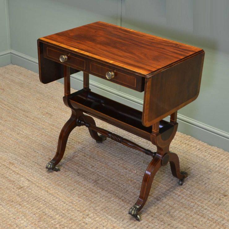 Stunning Quality Figured Mahogany Small Antique Sofa Table