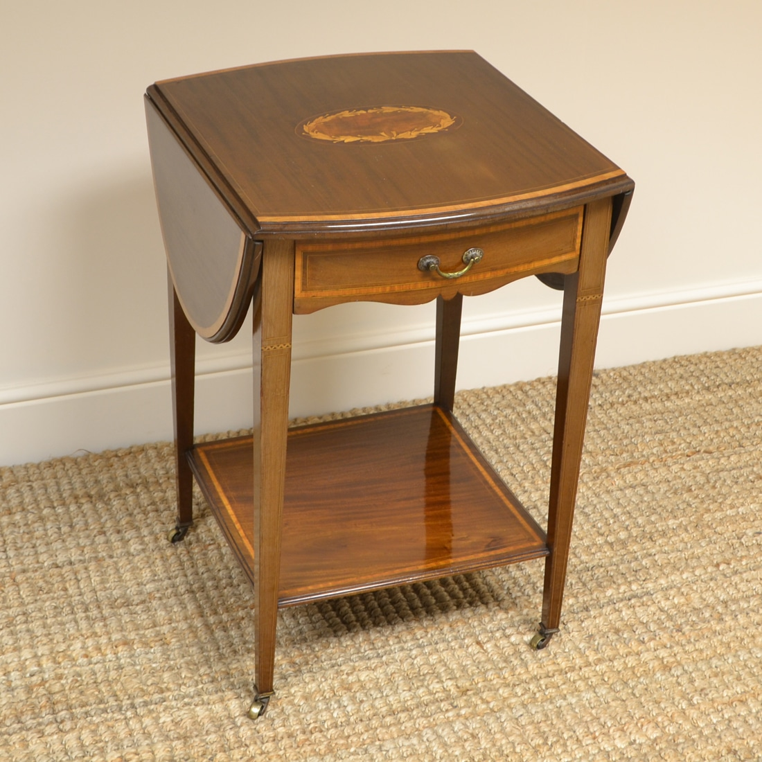 Terrific Small Inlaid Mahogany Antique Edwardian Sofa Table Alphanode Cool Chair Designs And Ideas Alphanodeonline