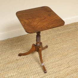 Elegant Regency Figured Mahogany Antique Tripod Occasional Table