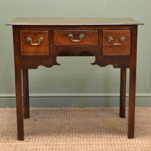 Georgian Oak Antique Side Table / Low boy