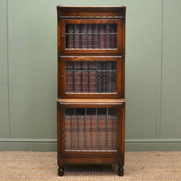 'Minty' Edwardian Antique Office Bookcase of Small Proportions.