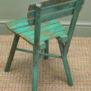 Cute Set of Four Vintage Painted Country Antique Children's Chairs