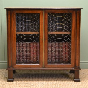Small Regency Mahogany Antique Cabinet of Small Proportions