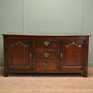 Georgian Period Oak Antique Country Dresser Base