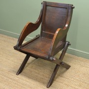 Victorian Arts And Crafts Solid Oak Antique Glastonbury Chair