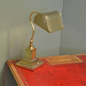 Solid Brass Antique Art Deco Desk Lamp