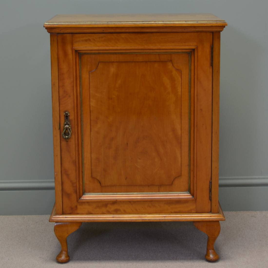 Rare, Unusual, Gillows of Lancaster, Satinwood Antique Cabinet.