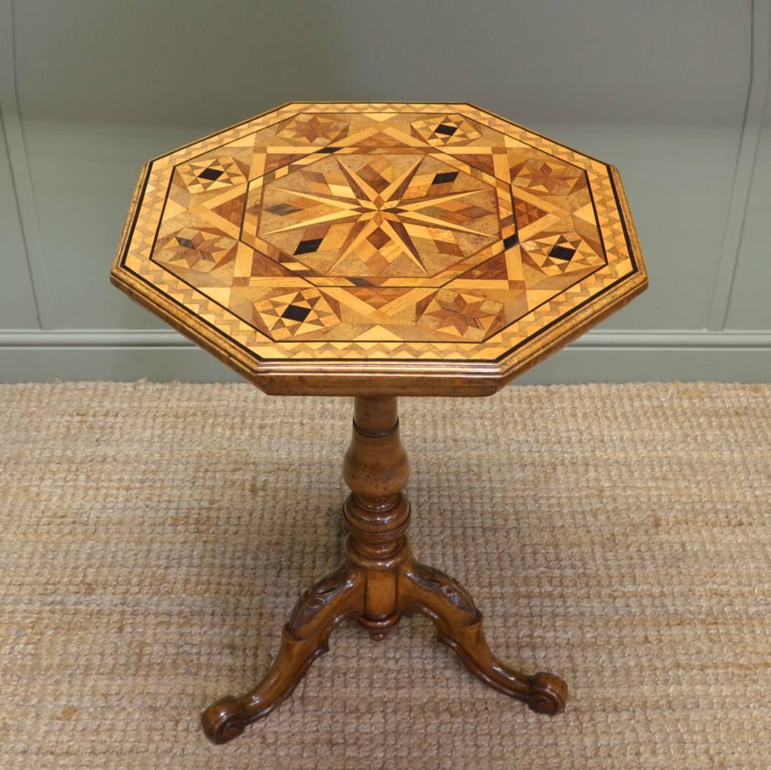Breathtaking Victorian Pollard Oak Specimen Table