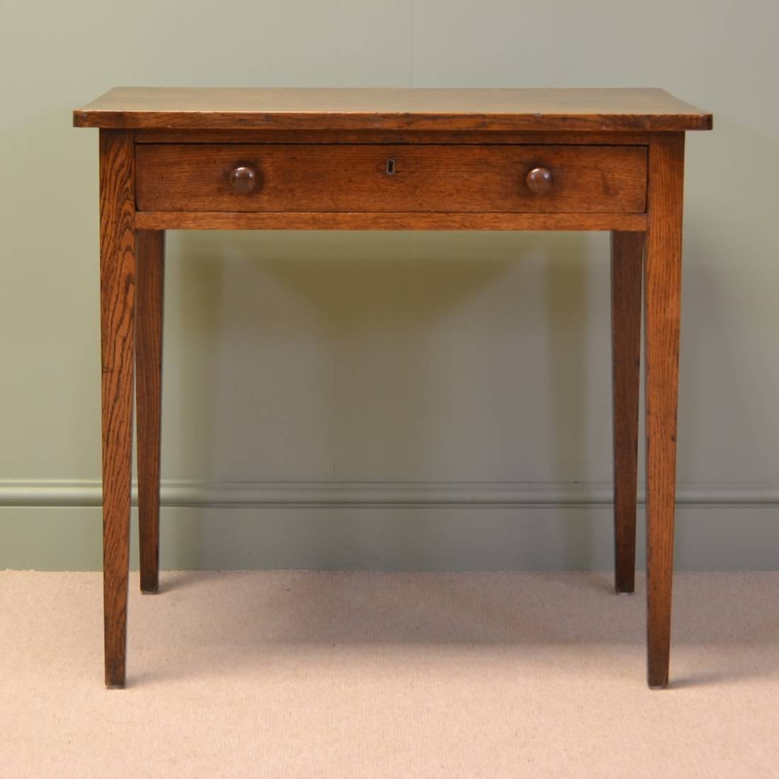 Regency country oak antique side table antiques world