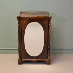 Beautifully figured Rosewood Victorian Antique Mirrored Music Cabinet – Pier Cabinet