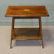 Quality Edwardian Mahogany Occasional Antique Table with Sunburst Inlay.