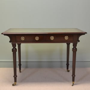 Victorian Mahogany Antique Writing Table / Desk