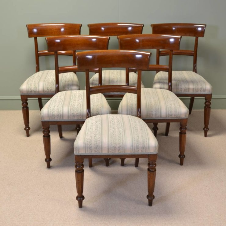 Elegant Antique Victorian Bar Back Antique Mahogany Dining Chairs
