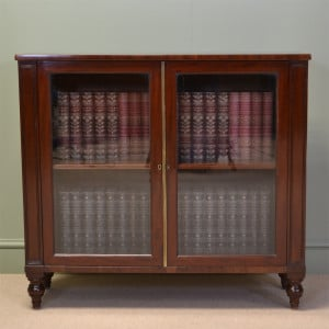 Remarkable Small Glazed Mahogany Antique Bookcase by James Winter
