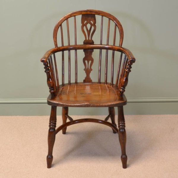 Country Georgian Antique Yew Windsor Chair