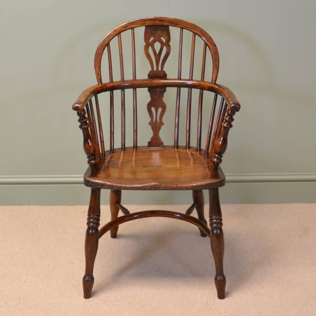 18th Century Yew Windsor chair