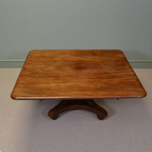 Large Beautifully Figured Mahogany Antique Coffee Table Antiques World
