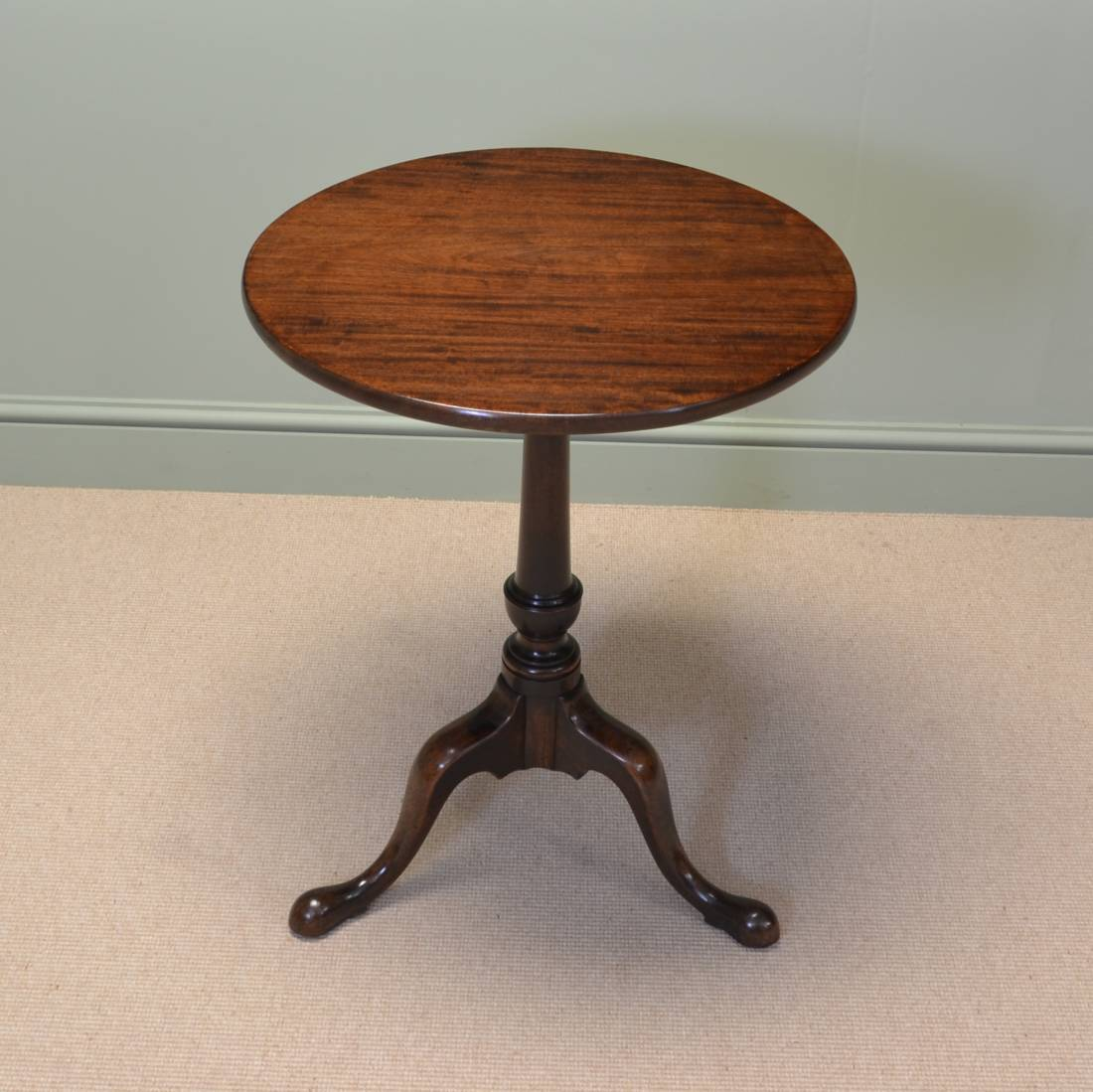 Quality cuban mahogany georgian antique tripod occasional for Occasional tables