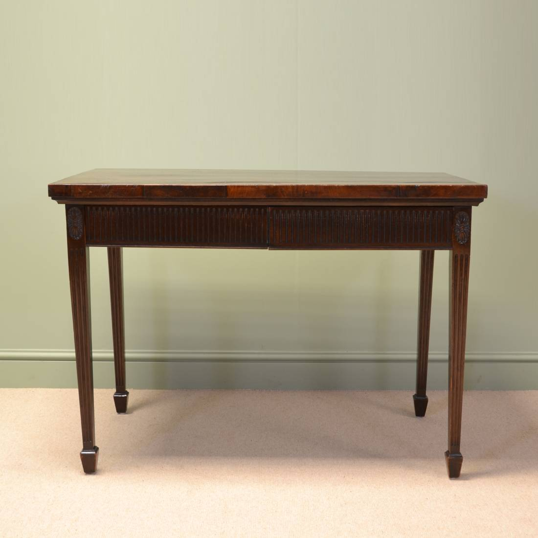 edwardian antique mahogany side console table by druce and co antiques world. Black Bedroom Furniture Sets. Home Design Ideas