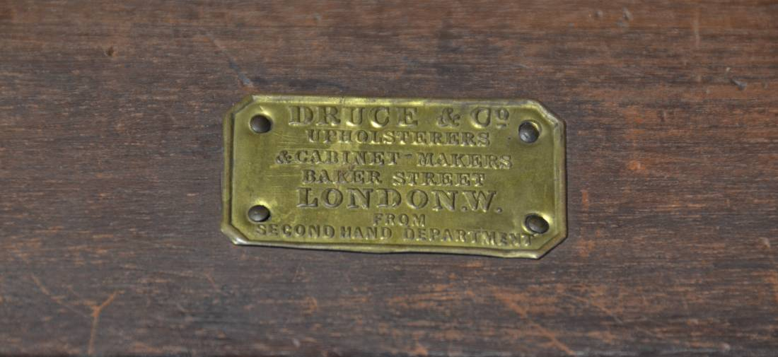 Druce And Co Brass Plaque