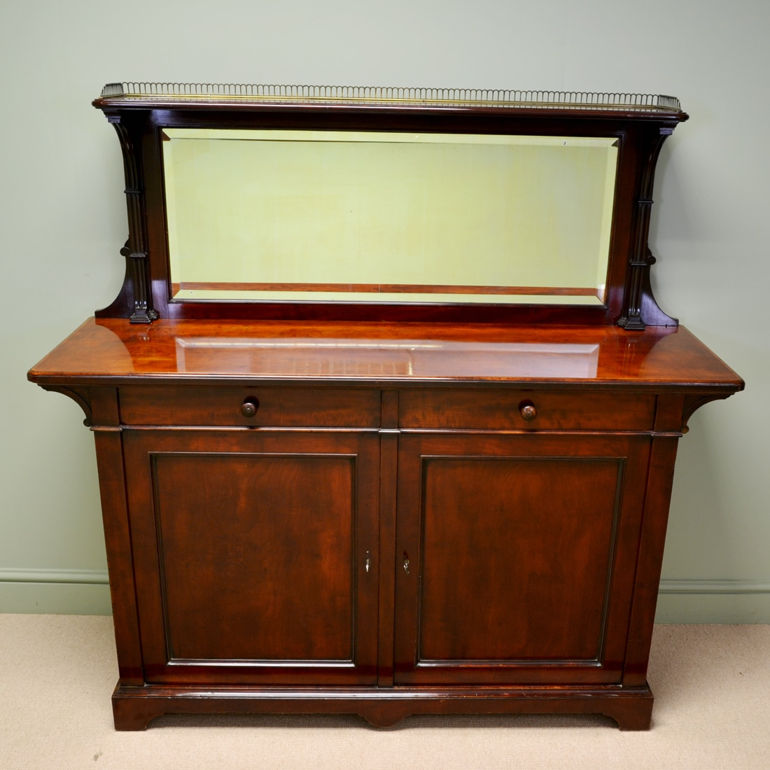 Magnificent Quality Holland And Sons Mahogany Victorian Antique Sideboard