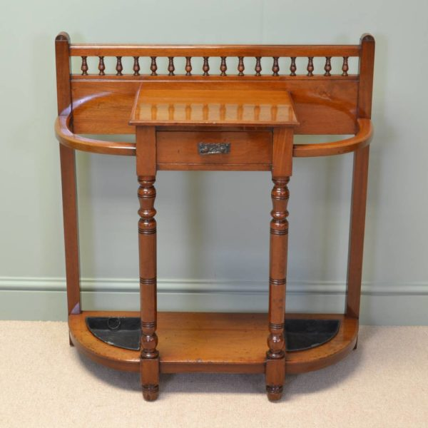 Quality Victorian Walnut Antique Stick / Umbrella Stand