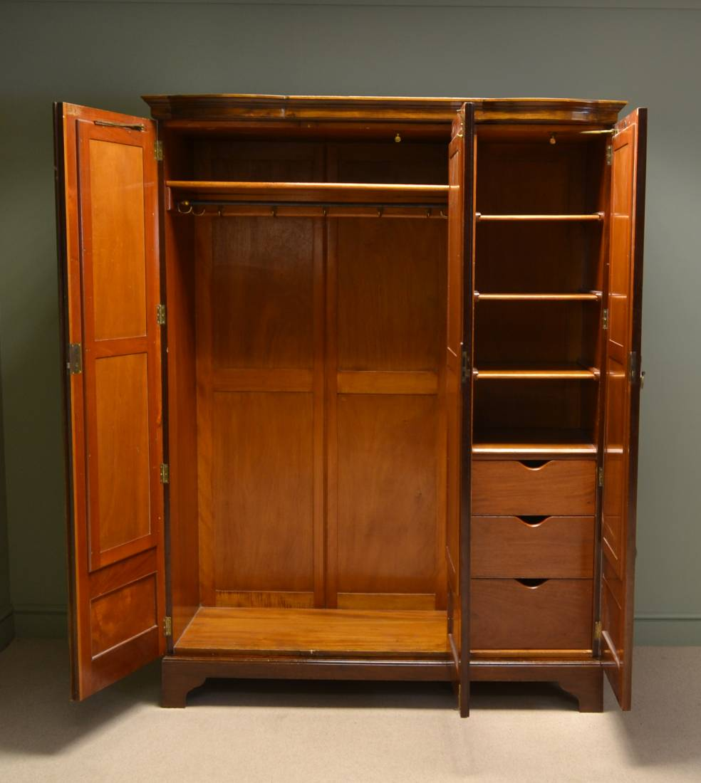 Stunning Maple & Co Inlaid Edwardian Antique Wardrobe.