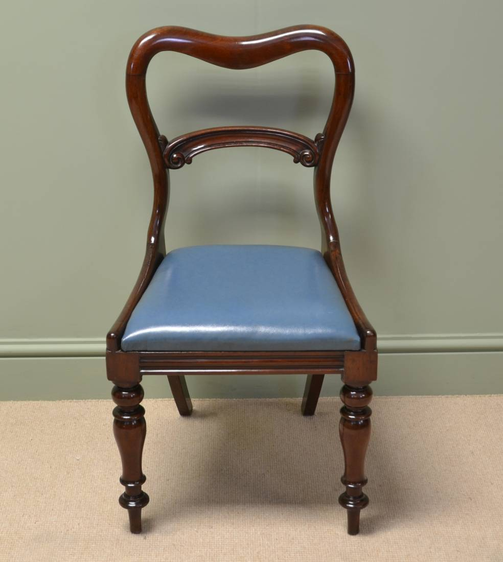 Elegant rich mahogany antique victorian dining chairs antiques world - Vintage pieces of furniture old times elegance ...