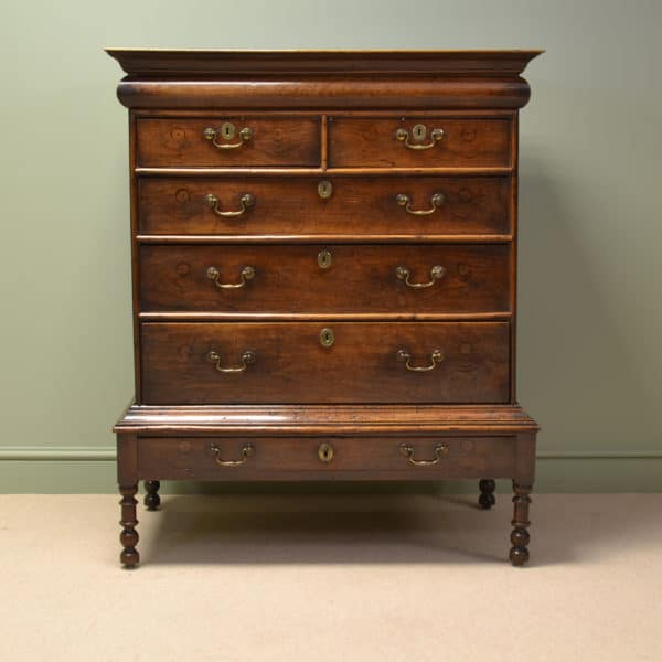 17th century walnut chest on stand