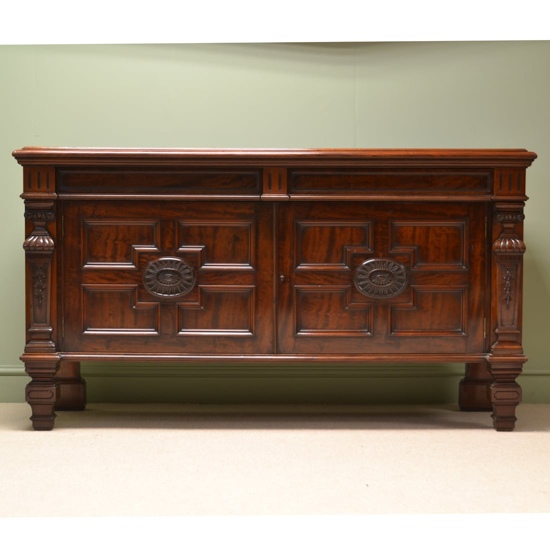 Spectacular Maple & Co Victorian Antique Sideboard / Cupboard