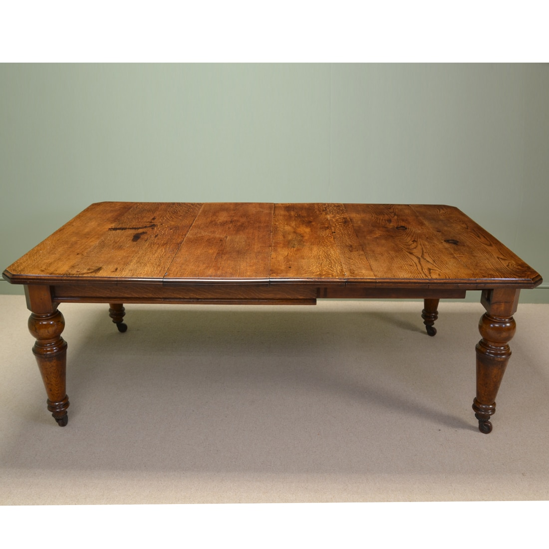 Characterful Victorian Figured Oak Antique Kitchen Farmhouse Table Antiques World