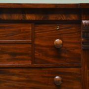 Spectacular Figured Mahogany William IV Antique Scottish Chest Of Drawers