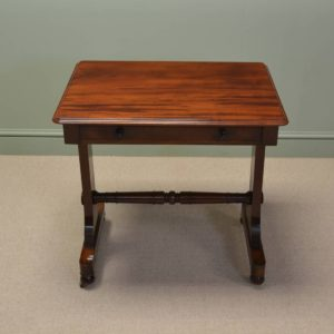 Appealing Beautifully Figured Victorian Antique Side / Writing Table