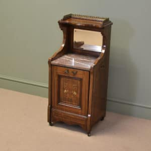 Unusual Victorian Rosewood Antique Coal Podonium.