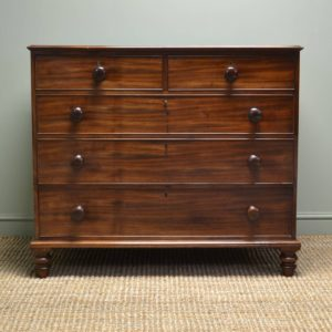 Country Georgian Mahogany Antique Chest of Drawers