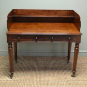 Magnificent Quality Mahogany Antique Writing Table / Desk / Wash Stand.